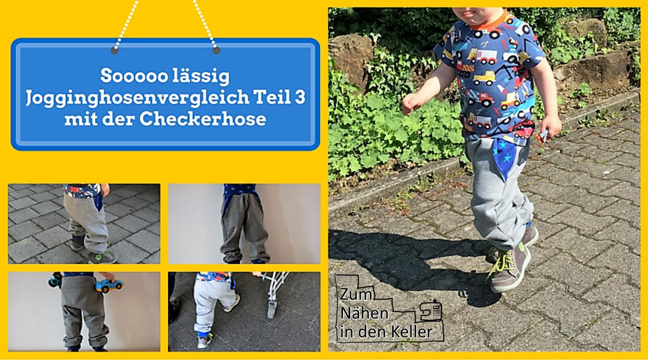 Die Checkerhose von klimperklein ist ja sooooo lässig! Teil 3 im Jogginghosenvergleich auf Zum Nähen in den Keller. Jogginghose, Sporthose, Sweat