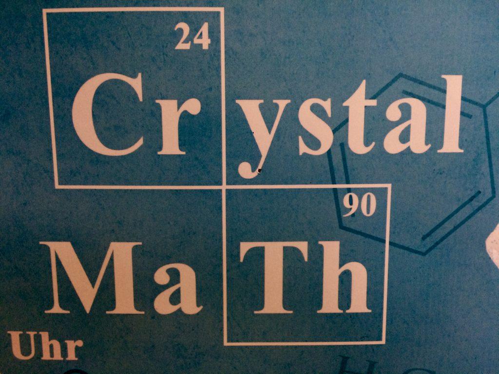 16:33 Uhr: Auf dem Weg zum Auto laufe ich am Werbeplakat für die nächste Party der Mathematiker und Chemiker vorbei. Irgendwie witzig.