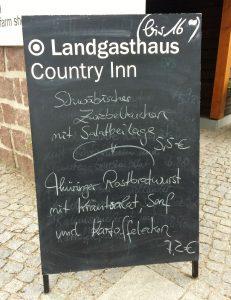 Berlin ist doch auch irgendwie schwäbisch, oder? Zumindest in kulinarischer Hinsicht. Ich hatte übrigens Pizza ;-)