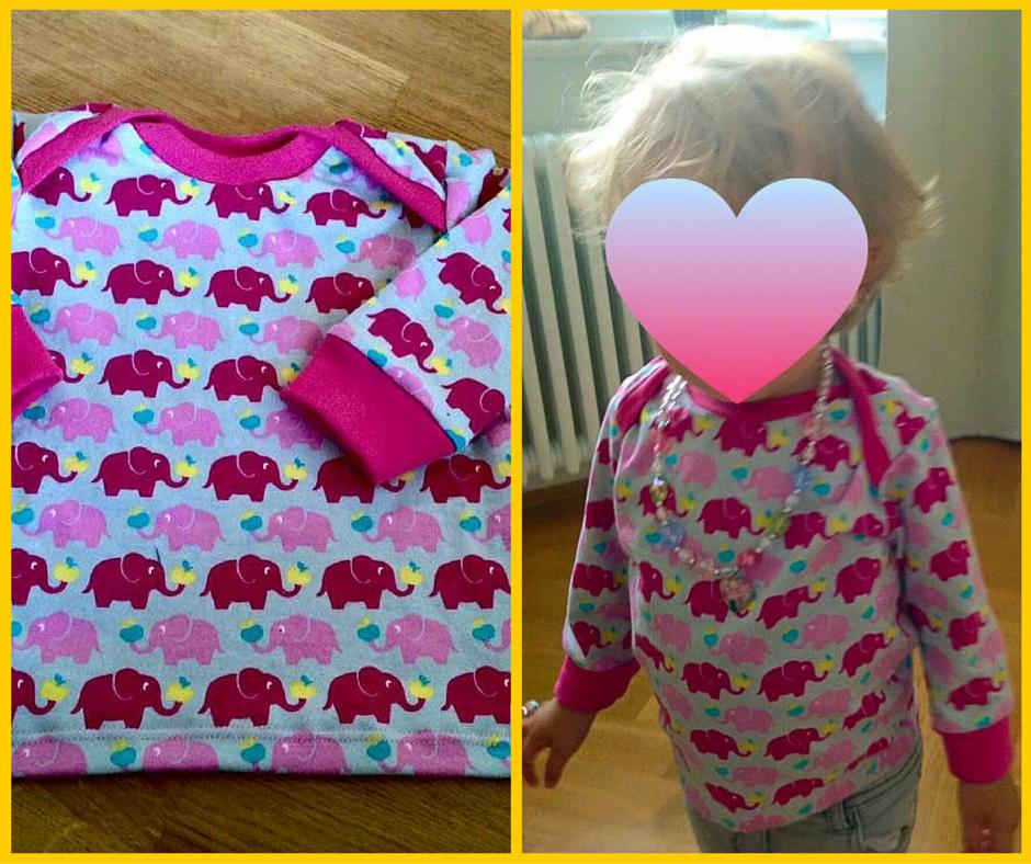 Babyshirt klimperklein für eine süße kleine Dame mit wunderbaren Elefanten von Michas Stoffecke | Zum Nähen in den Keller