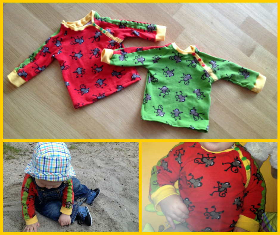 Little Joel Shirt nach dem Schnitt von Mialuna mit Affen Jersey | Zum Nähen in den Keller