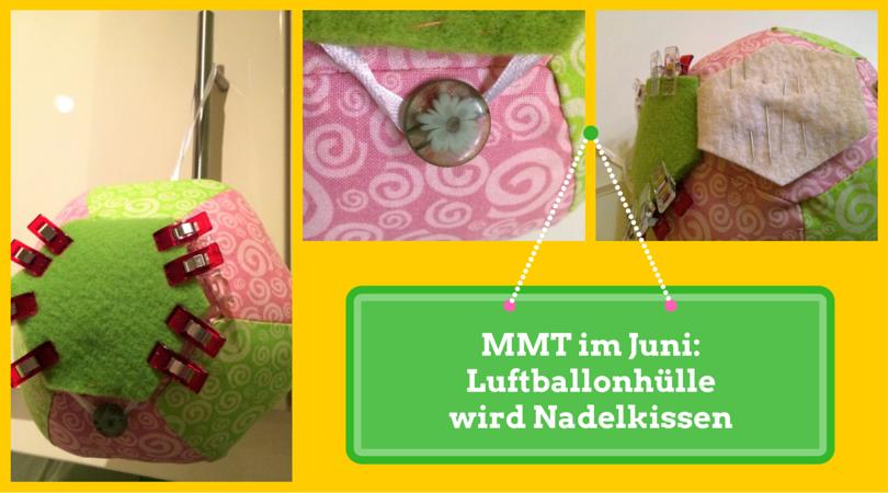 So habe ich mir aus dem Freebook für eine Luftballonhülle ein Nadelkissen gebastelt. kostenlose Anleitung auf Zum Nähen in den Keller.