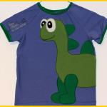 Raglanshirt T-Shirt klimperklein mit Applikation Dinosaurier Langhals Diplodocus Kleine Fadenprinzessin Dino Zum Nähen in den Keller | application sew shirt dinosaur