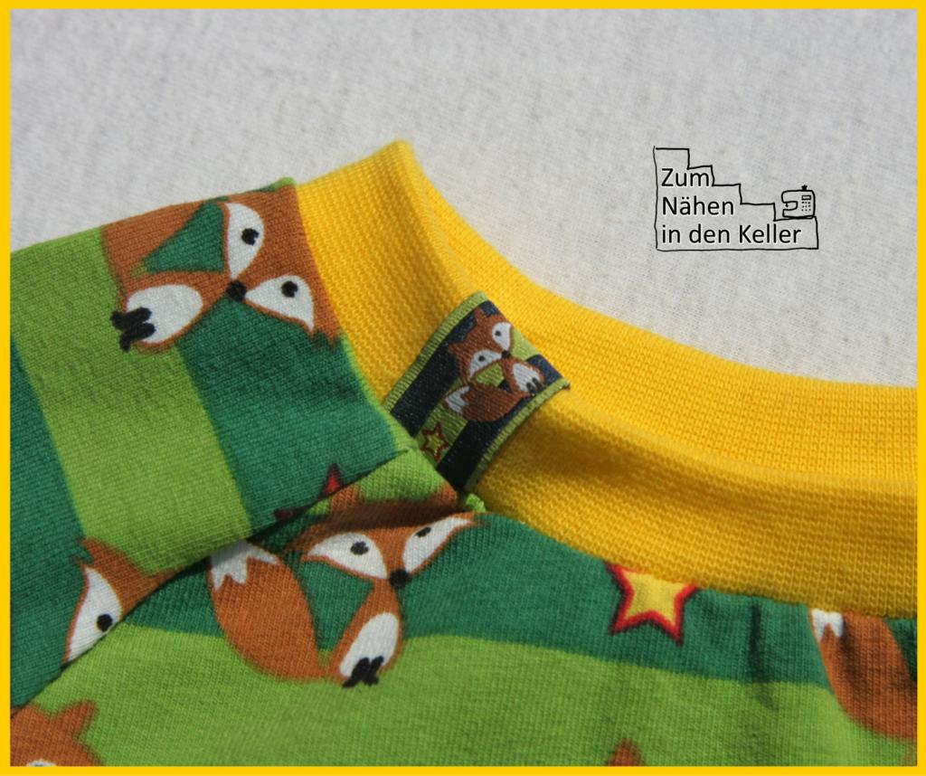 Raglanshirt Klimperklein mit Fuchs Füchsen Jersey von Stick&Style Zum Nähen in den Keller fox shirt t-shirt