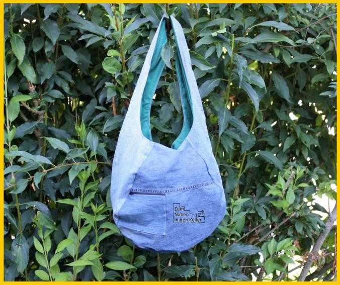 Tasche aus dem MMT im August. Genäht von Creativity Corner of Jenn. Cooles Upcycling!