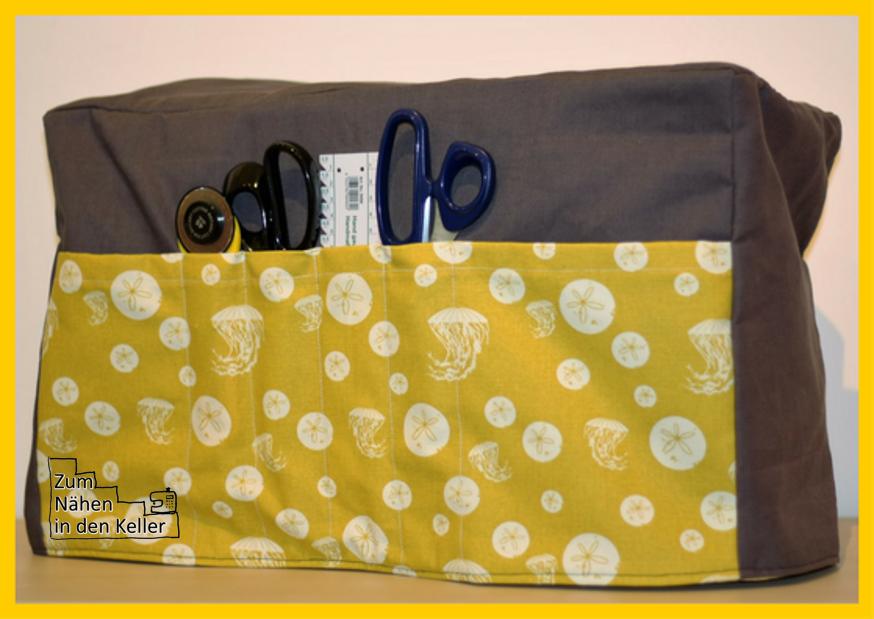 Nähmaschinenhülle sewing machine cover Zum Nähen in den Keller