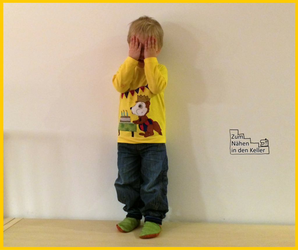 Geburtstagsshirt Geburtstag Pullover Raglanshirt klimperklein Bobo Siebenschläfer Applikation appliziert 3 Jahre alt Zum Nähen in den Keller