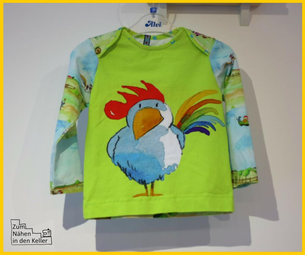 Franz von Hahn Freunde für immer Bilderbuchstoffe Jersey Panel Shirt Babyshirt Klimperklein Zum Nähen in den Keller