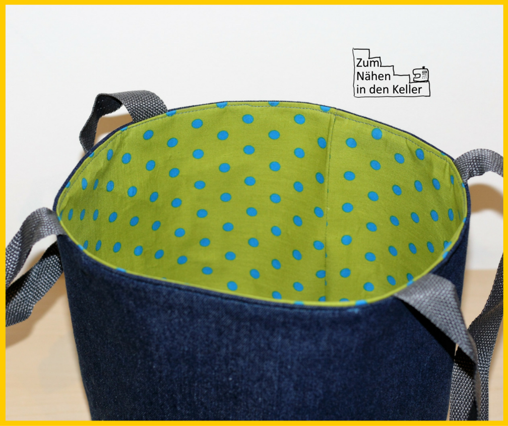 ein multifunktionaler korb aus stoff geschenk nr 3 f r die wgwk zum n hen in den keller. Black Bedroom Furniture Sets. Home Design Ideas