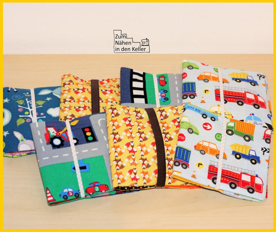 pixibuch pixibücher pixibuchhülle pixibücherhülle hülle total einfach und schnell genäht nach einem Freebook | Zum Nähen in den Keller