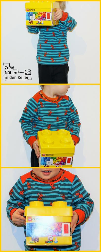 Pepe Mialuna Tiger Jersey Streifen petrol orange Shirt Langarmshirt Zum Nähen in den Keller Nähen für Jungs Cool; Sew little boys pullover