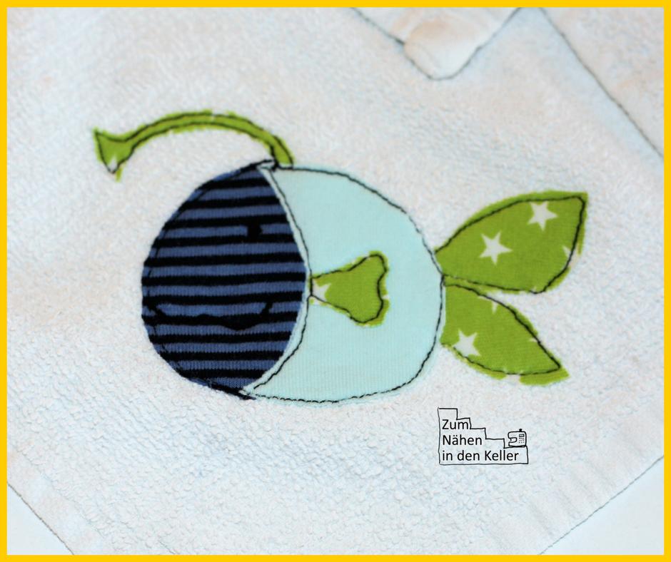 waschlappen waschtücher frotteetücher von IKEA mit Applikation Fische von Herzensbunt Design Zum Nähen in den Keller