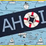 Raglanshirt Kids von Erbsenprinzessin aus Stoffonkel Jersey mit Booten Schiffen maritim. Applikation AHOI von Herzensbunt Design Rettungsring
