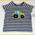 Raglanshirt Kids von Erbsenprinzessin mit Traktor Applikation nach der Vorlage von Oberschätzchen, Zum Nähen in den Keller, nähen für Jungs
