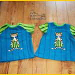 Petterson & Findus Set für kleine Freunde Raglanshirt Kids Erbsenprinzessin Kinderkleid Tunika von Klimperklein Stoff & Liebe Panel Zum Nähen in den Keller