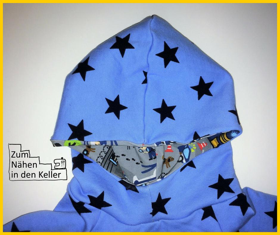 Fritzi Schnittreif Kapuzenpulli Kapuzenpullover Pullover Pulli Hoodie Toni Zum Nähen in den Keller Sterne Polizei