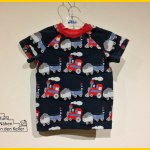 Eisenbahn Jersey Mrs. Flowers Zum Nähen in den Keller Raglankids Erbsenprinzessin Nähen für Jungs T-Shirt