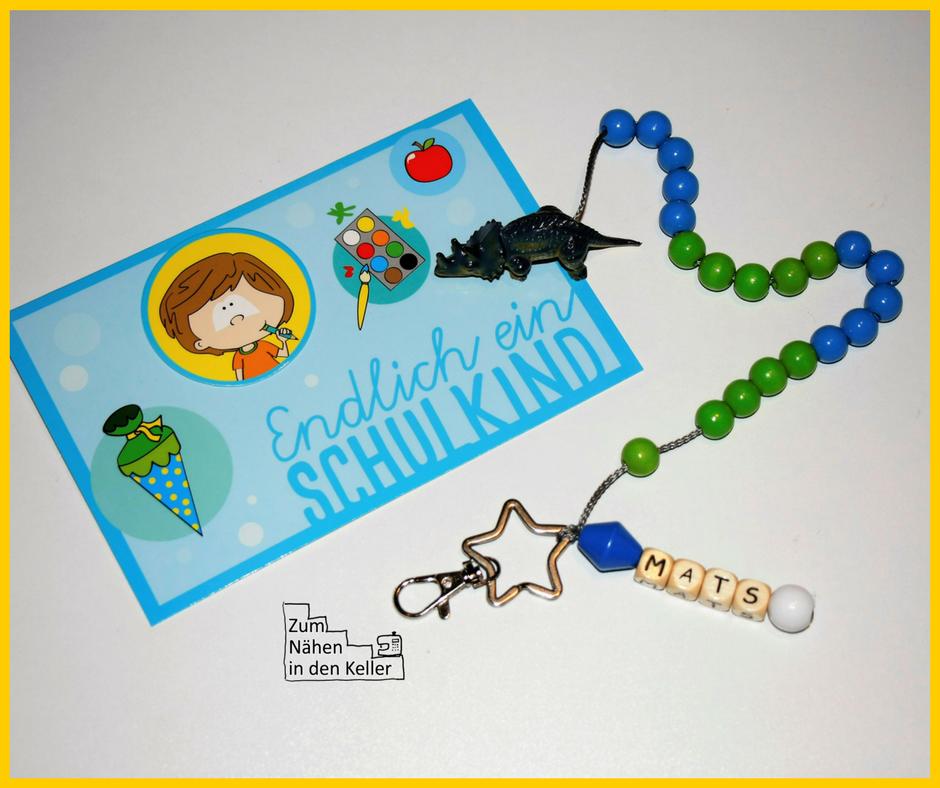 Rechenkette Zählkette Lernhilfe für Schulanfänger ABC-Schützen selber basteln. Tolles Geschenk!