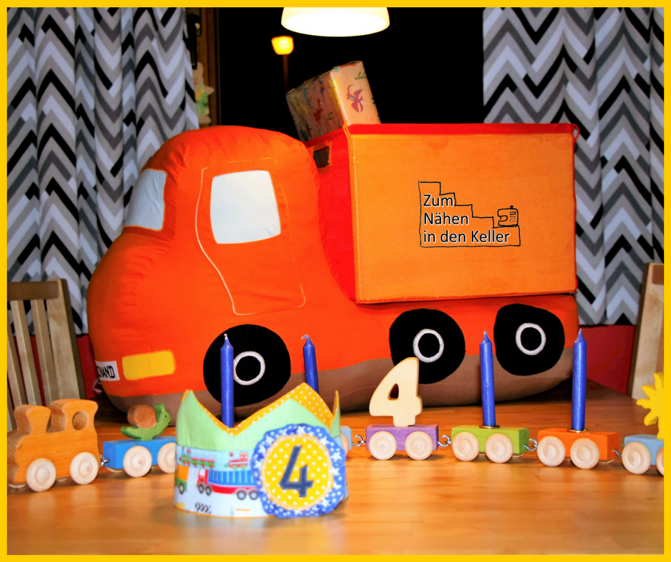 kipplaster hüppa shesmile Geburtstagsgeschenk Lastwagen Zum Nähen in den Keller Nähen für Jungs LKW
