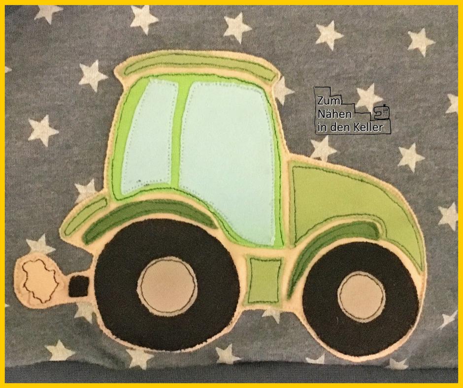 schlawiner fred von soho sterne traktor applikation von oberschätzchen zum nähen in den keller