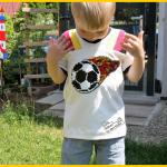 sportshirt vinny von lunaju, wendepailletten von wunderpop.de, Zum Nähen in den Keller