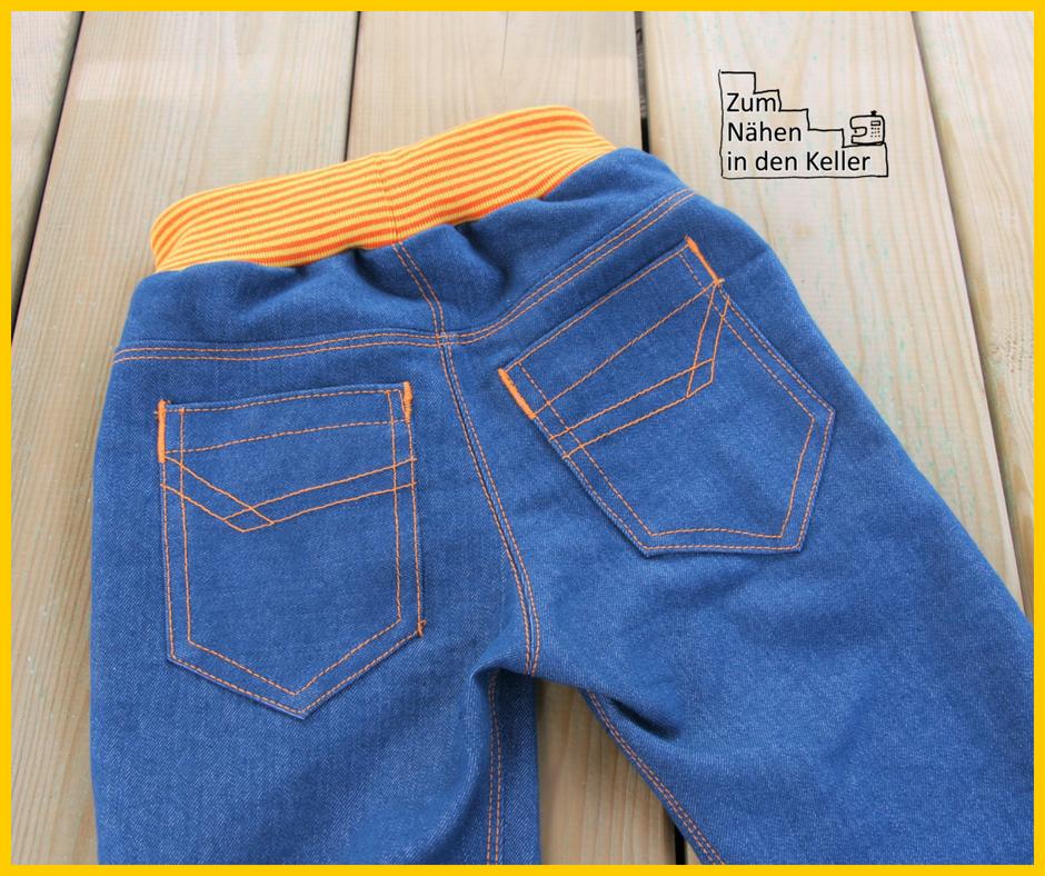 Mottis Jeans nach Made for Motti aus Stick & Style Sewprise Bag März Jungs für den Menschenskinder Sew Along - Zum Nähen in den Keller