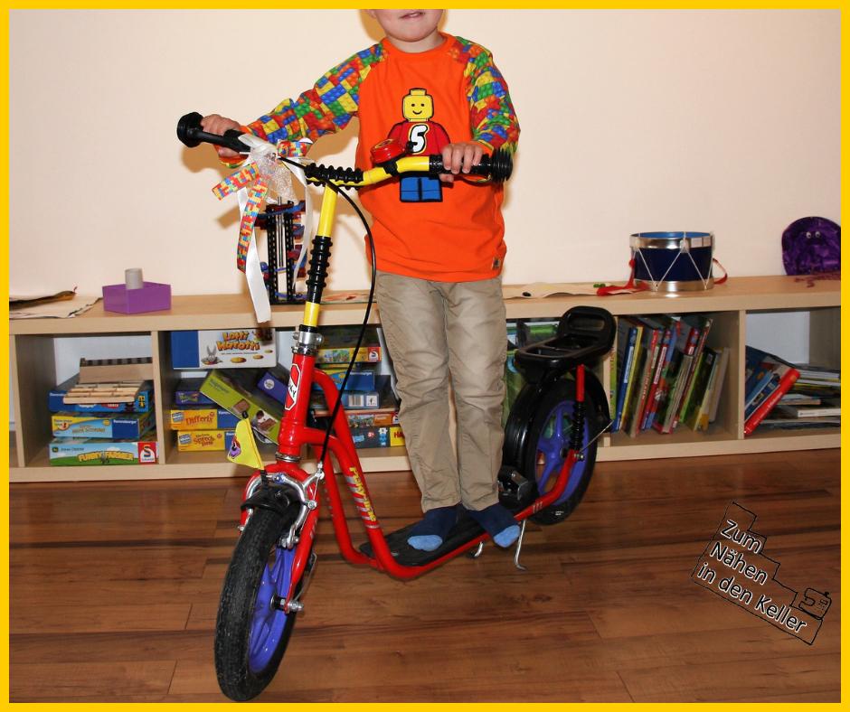 raglanshirt Klimperklein Jersey Lego Legomännchen Zum Nähen in den Keller Geburtstagsshirt 5. Geburtstag Kindergeburtstag Applikation applizieren