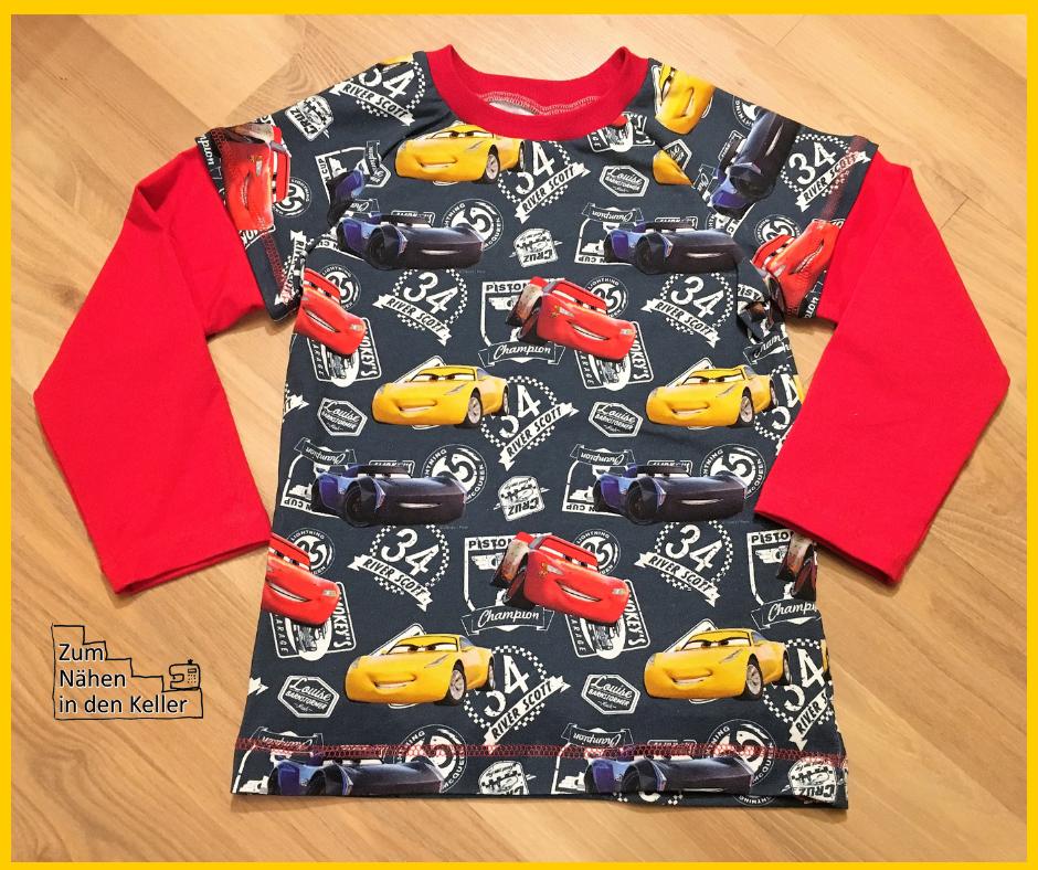 Raglanshirt Klimperklein Lagenlook Disney Cars Lightning McQueen Cruz Ramirez Jackson Storm Nähen für Jungs Zum Nähen in den Keller