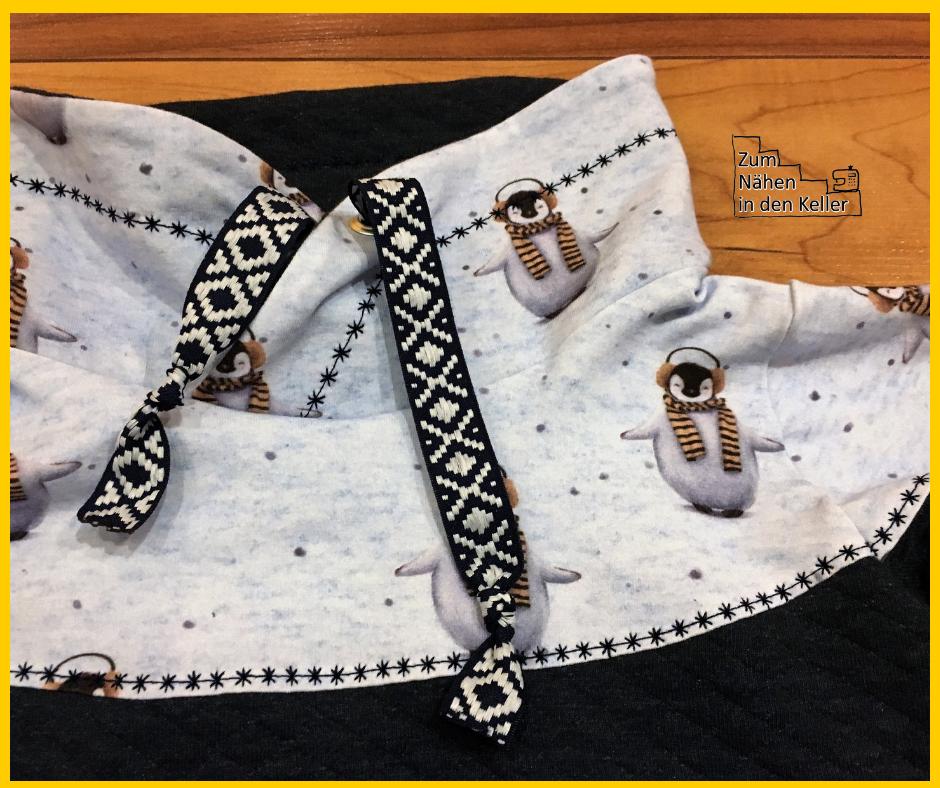 sewprise bag januar junge stick&style BeeStyle Pullover mit Schalkragen von BeeKiddi Karl Knopf Hose Pinguin Zum Nähen in den Keller