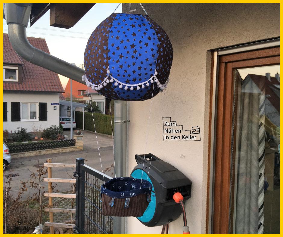 adventsballon heißluftballon fesselballon shesmile zum nähen in den keller adventskalender