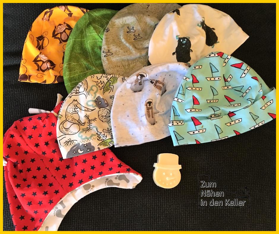 Spende Kinderkrebshilfe Mützen Minutenmütze Klimperklein Seife selbergemacht Honig Ziegenmilch Weihnachten Basar Zum Nähen in den Keller