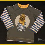 raglanshirt klimperklein mit hipster bär panel von stoffe hemmers interessante teilung zum nähen in den keller