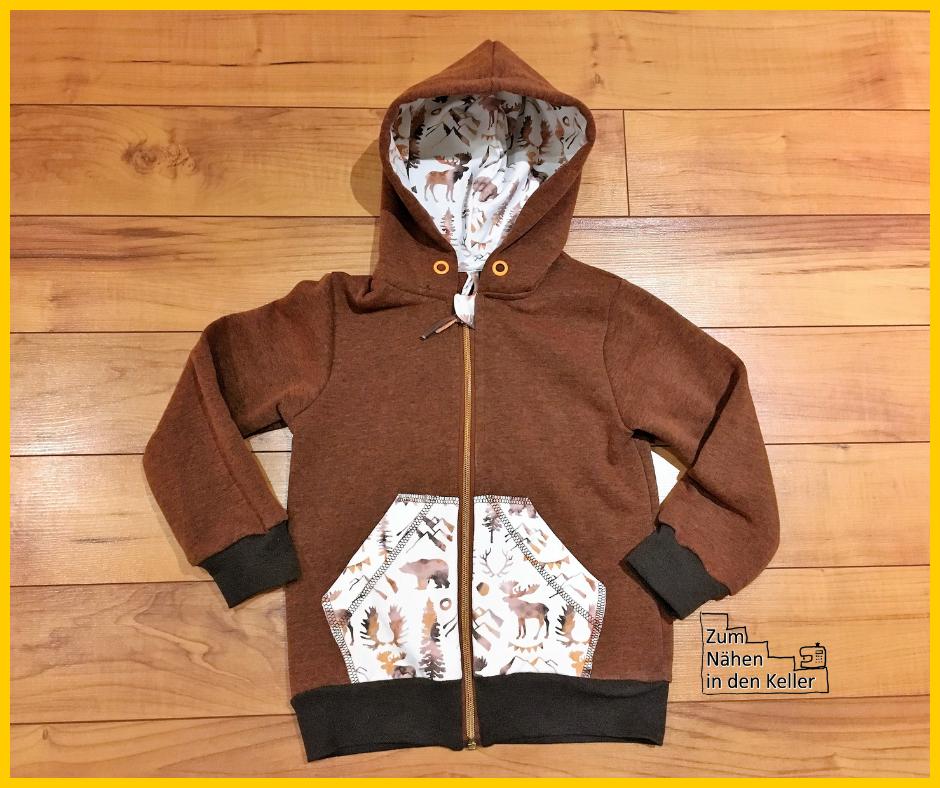Jacke Sweatjacke klimperklein aus der Sewprise Bag von Stick & Style, Zum Nähen in den Keller